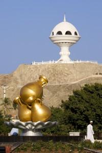 Il grande bruciatore di incenso che domina dall'alto Muscat (Afp)
