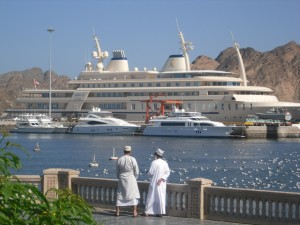 Al Said, il mega yacht del sultano, Muscat, Oman (Afp)